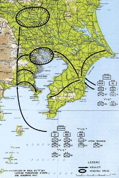 Operation Coronet - planned Allied invasion of Tokyo area